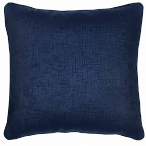 "SET OF 2 DARK NAVY BLUE SOFT VELVET TOUCH TEXTURED 18"" CUSHION COVER £9.95 SET"